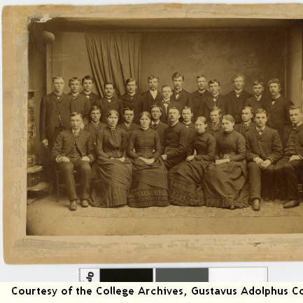 First Freshman Class, Gustavus Adolphus College