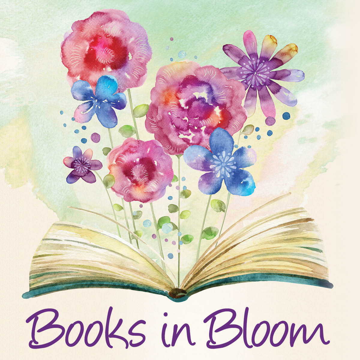Books in Bloom graphic