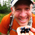 Jeff in berry heaven, Voyageurs NP, Minnesota