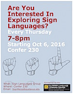 Exploring Sign Languages Group