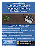 Intro to CALL Certificate 2017 Flier