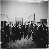 photograph of presidential meeting
