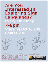 Sign Languages Poster