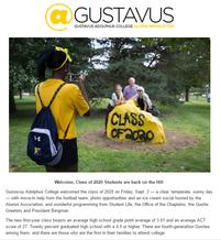 September 2016 @Gustavus