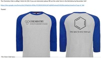 2017 Chem Club t-shirt