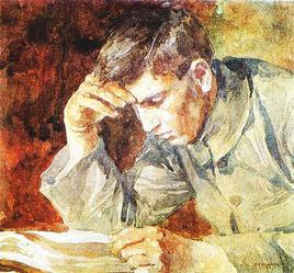 Bednarik Young Man Reading