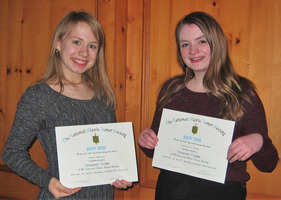Dobro Slovo inductees for 2018-19, Kristen Halverson and Christiana Nelson.