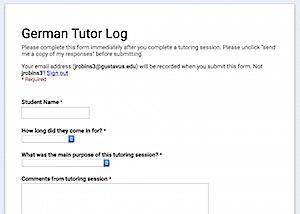 Screenshot of German Log