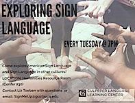 Exploring Sign Language Poster 2017