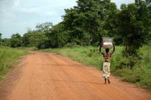 African Road - Woman and Water