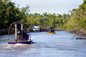Airboats on the River