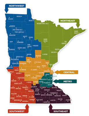 Minnesota Regions Map