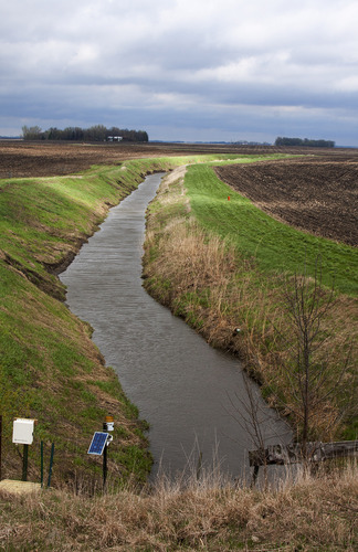Photo of a ditch with water