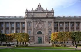 The Riksdag (Parliament) building
