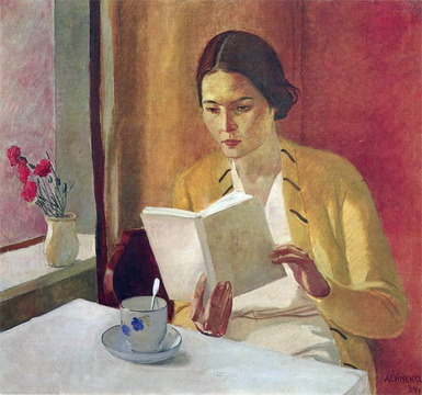 Alexander Deneyka, 1934. Oil on wood.