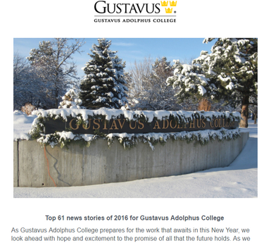 @Gustavus Monthly January 2017
