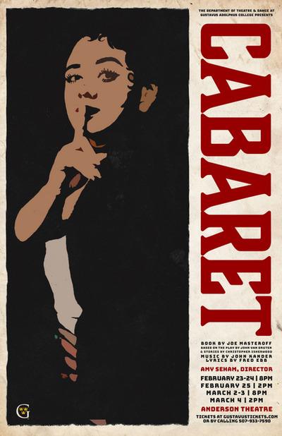 Gustavus Cabaret Poster - Annie Galloway Creative