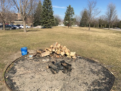 Fire Pit Before