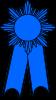 Blue First Prize Ribbon