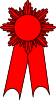 Image of Red Second Prize Ribbon