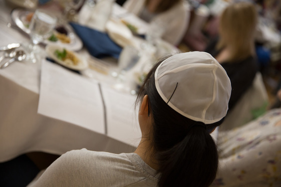 A reflective moment at the Passover Seder