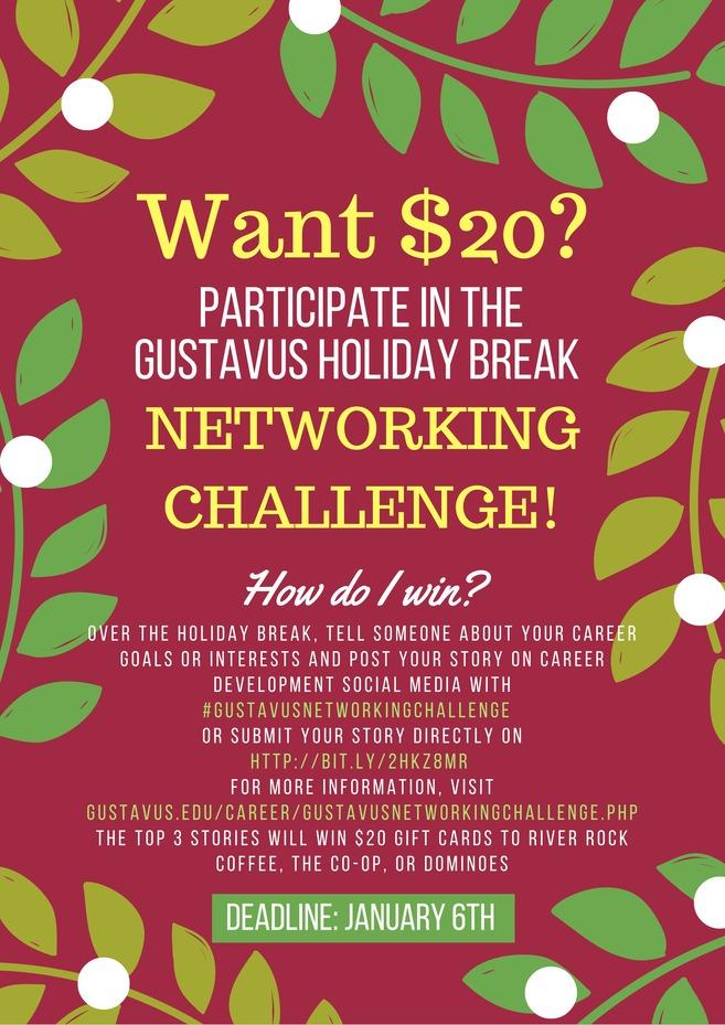 Gustavus Networking Challenge Poster