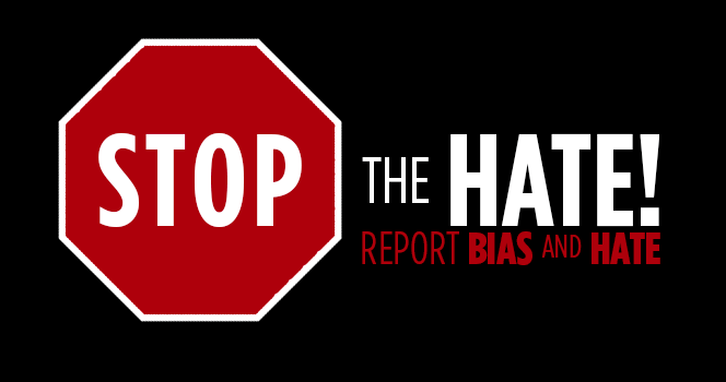 Stop the Hate Banner