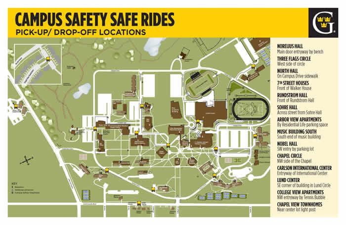 SAFE RIDES MAP