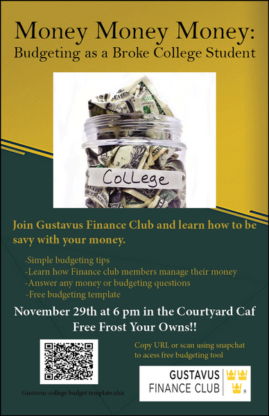 finance club budgeting and money tips panel november 29 at 6 6 45