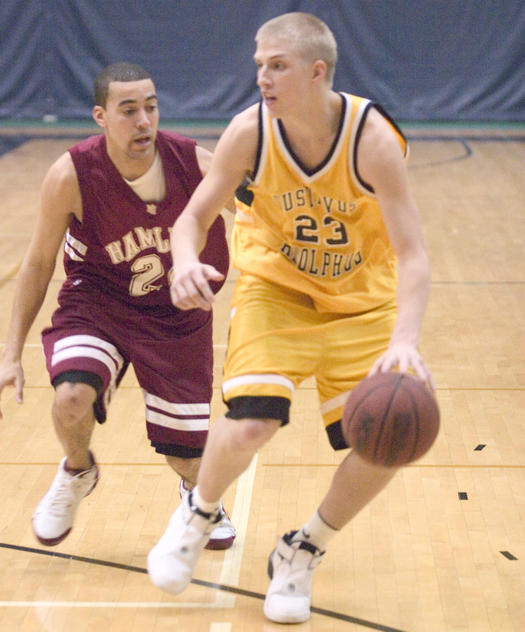 Sophomore guard Derek Dreifke handles the ball on the point.