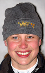 First-year Laura Edlund (Forest Lake, Minn.) led the Gusties on Sunday with a tenth place finish.