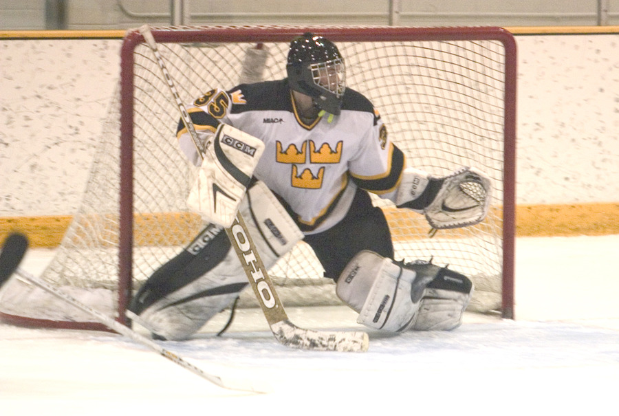 Gustie goaltender Erik Kraska made 22 saves on Saturday night for his sixth win of the season.