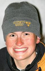 Senior Kelly Damrow led the Gusties on Saturday by placing seventh in the classic race.