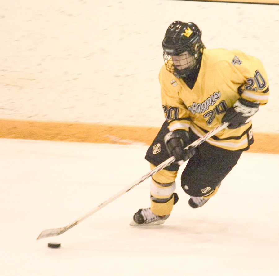 Molly Doyle controls the puck against Saint Ben's.