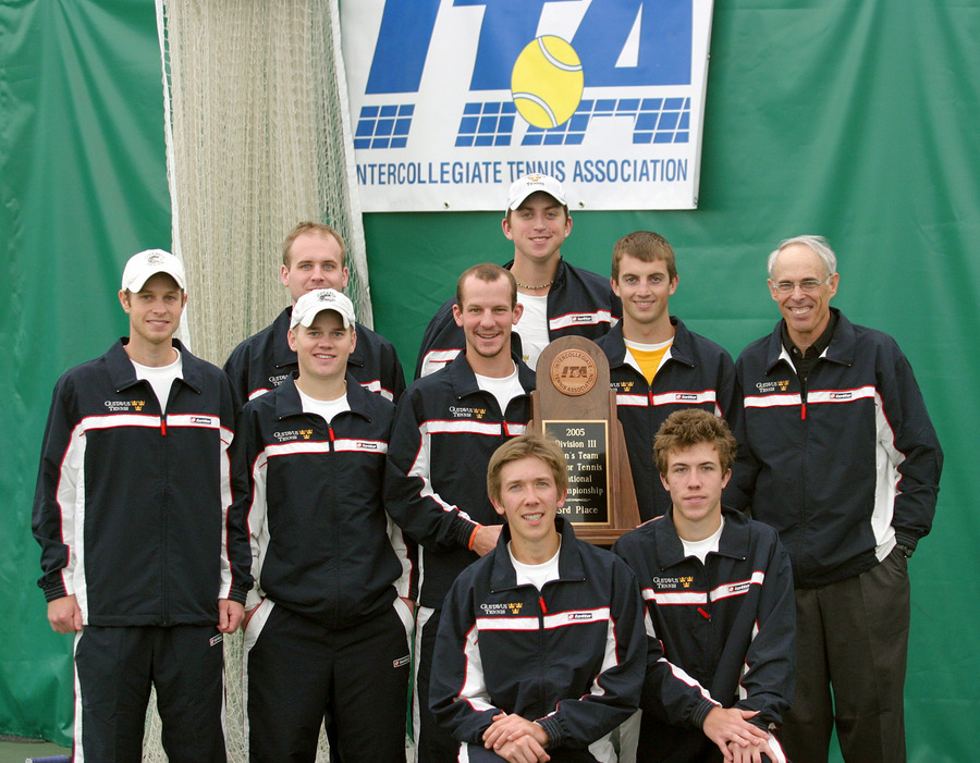 The Gusties pictured with their third place team trophy.