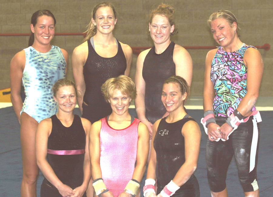 Front: Brittany Moore, Shannon Bank, Amanda Parker, Back: Danielle Berg, Nicole Gergen, Therese Gay, Ashley Erickson.