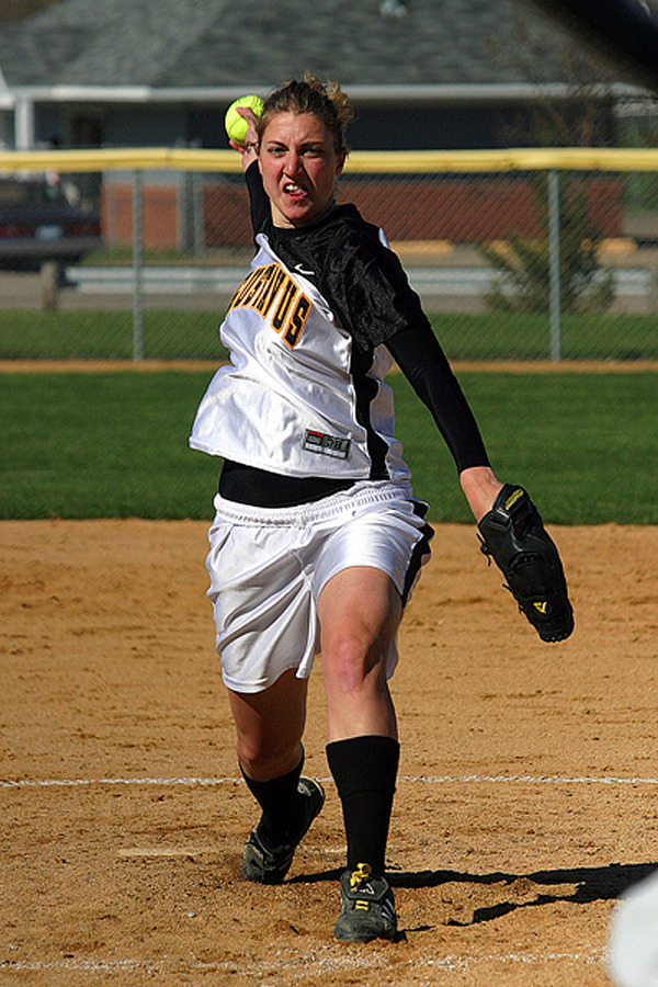 Joyce DeWitz was tagged with her first loss in eight game in game one.