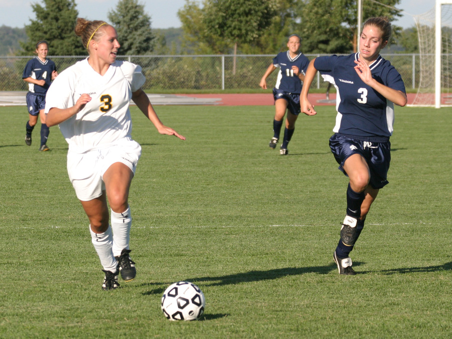 Callie Christensen scored her first collegiate goal on Wednesday.