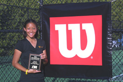 Gustavus junior Lauren Hom is the defending ITA Midwest Region Singles Champion