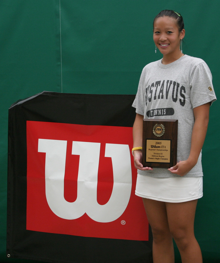 Lauren Hom finished second in the singles draw.