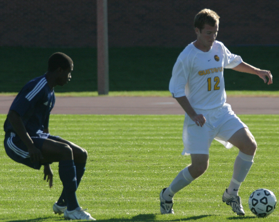 Ben Heupel works to get past a UCSC defender.