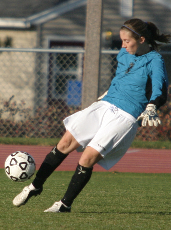 Gustavus keeper Tori Boughton picked up one save against the Royals.