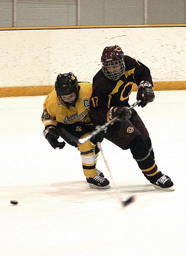 Senior defender Abby Randall (on left)