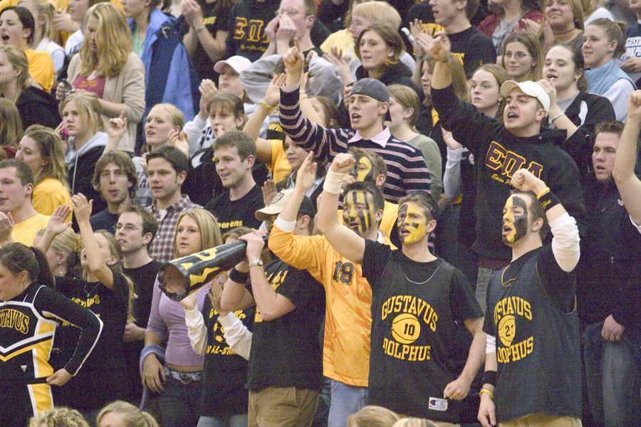 The legendary Gustie basketball fans