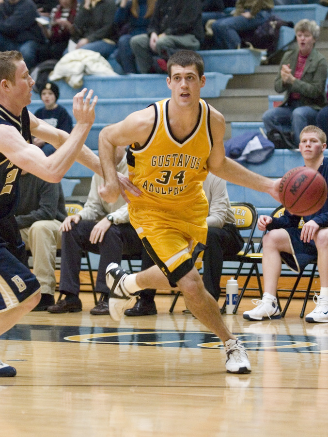 Adam TeBrake scored 25 points to lead the Gustie attack.