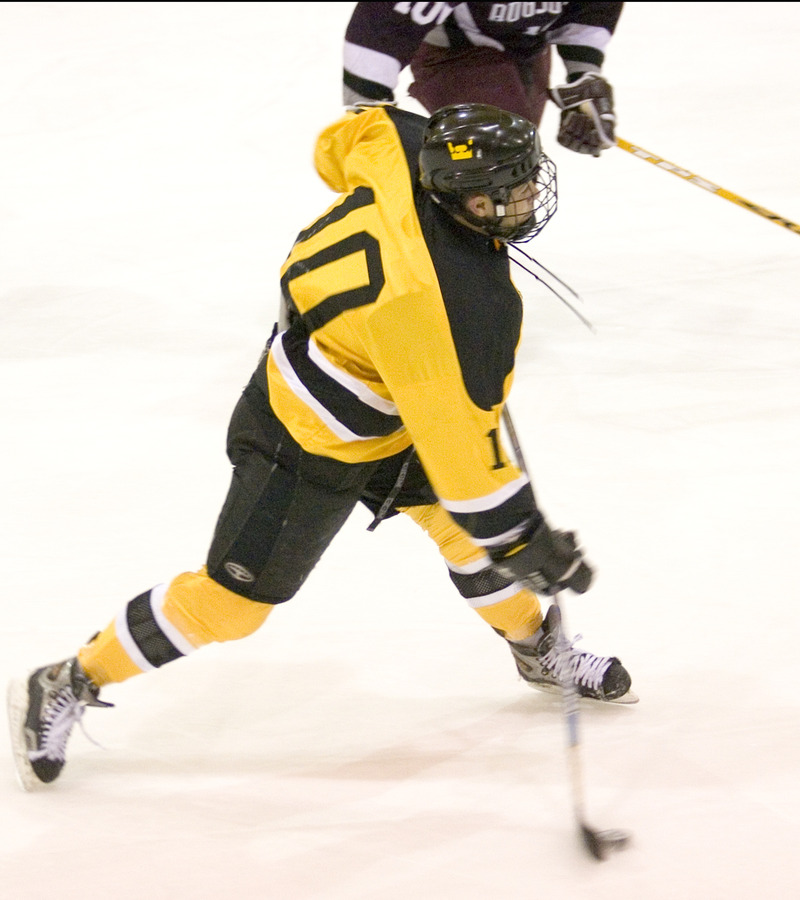 Sami Idris fires the puck toward the net.