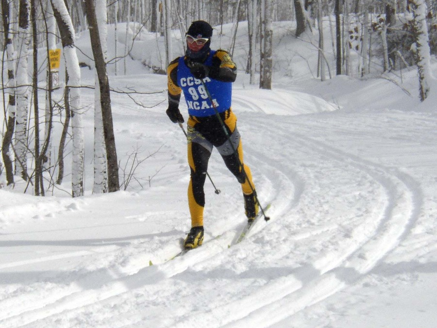 Senior Erich Ziegler skied to a 14th-place finish in Saturday's classic race.