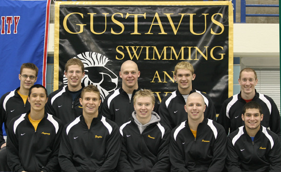 The Gustavus men's swimming and diving team will send ten representatives to the NCAA Division III Men's Championships