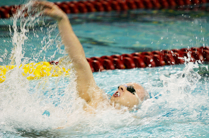 Jeff Pearson swam the opening leg of the 12th-place 400 medley relay.