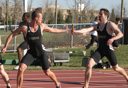 The Gustavus men performed well in the relays, picking up wins in two of three events.